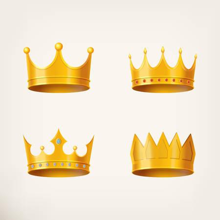 elite: 3D golden crown for queen or monarch, king