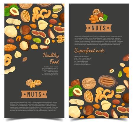 Nourriture de noix pour l'affiche de magasin ou la bannière de marché