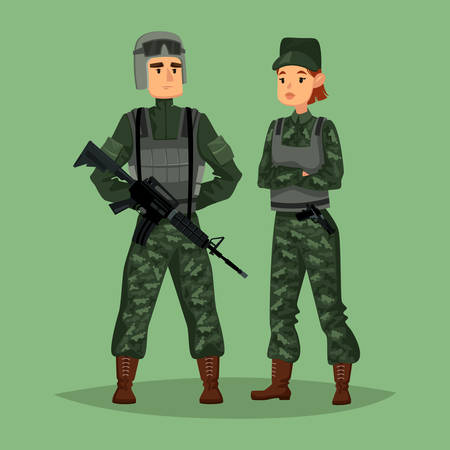 Soldiers icon. Illustration