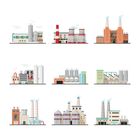 Buildings of industry plants and factory