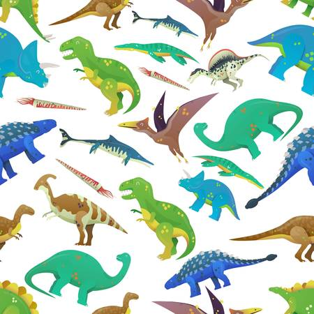 Pattern with dinosaurs. Illustration