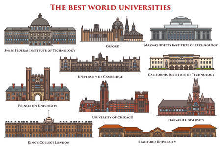 Set of isolated buildings and university.