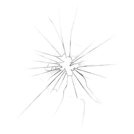 Crushed mirror or broken surface of glass. Illustration