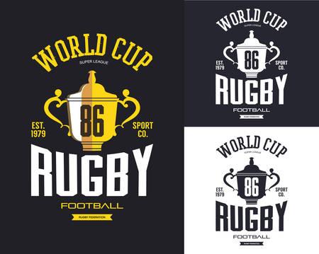 Golden rugby trophy