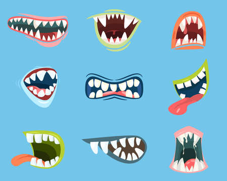 Dracula or monster, vampire cartoon mouth Stock Photo - 108868626