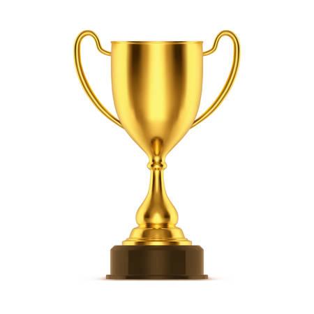 Gold oder Gewinner 3D-Schüssel. Goldener oder meisterhafter realistischer Becher oder Sporttrophäe. Metal Award für den besten Spieler oder Anwärter auf den ersten Platz. Glänzender und glänzender Spielpreis für Rennen oder Fußball, Fußball. Erfolg