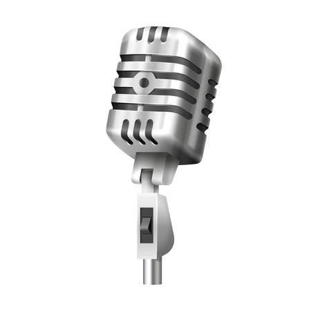 Retro mic with stand. Studio or radio microphone