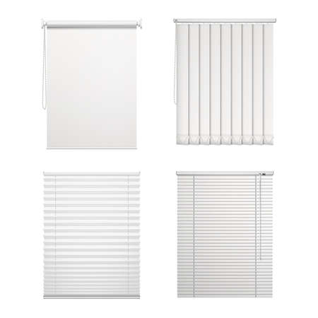Set of isolated blinds or vector window louver