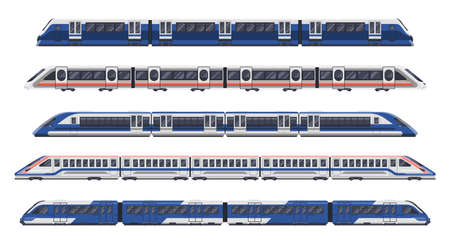 Trains, railway wagon, metro rail subway transport