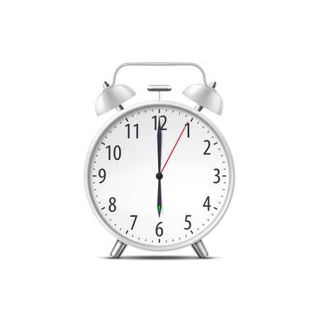 Alarm clock, realistic isolated classic time watch Ilustração
