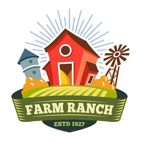 Farm ranch, farmer food product, organic bio label
