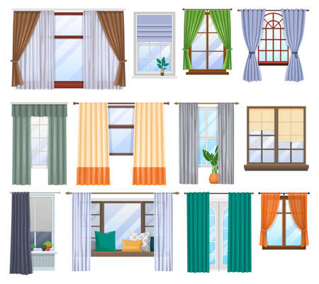 Window, curtains and blind drapes, interior design