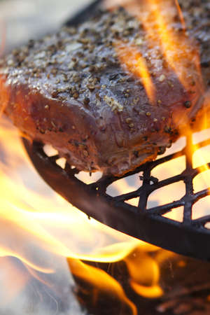 Flame Grilled Steak Stock Photo - 12721616