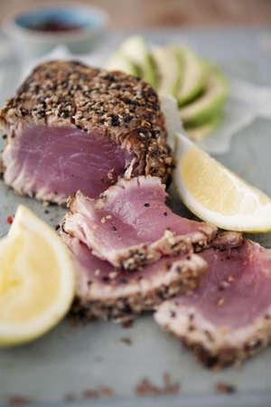 seared: Seared Tuna Fillet