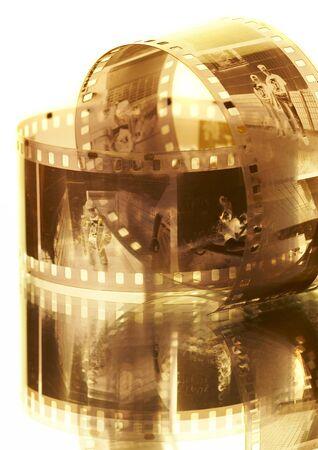 35mm: Old black-white photofilm. A negative 35mm... Stock Photo
