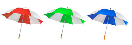 Umbrella from a rain or the sun on a white background  Stock Photo