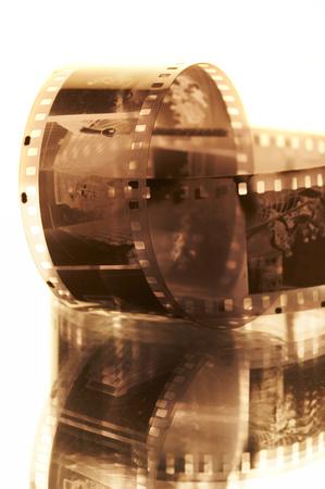 Old black-white photofilm. A negative 35mm... Stock Photo - 1525155
