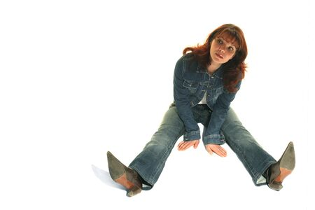 The girl in a jeans suit Stock Photo - 1536639