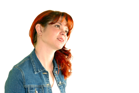 The red-haired girl. Stock Photo - 1536656