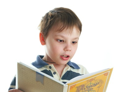 The boy with the book Stock Photo - 1565624