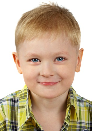 The portrait of the boy of the blonde which smiles. Stock Photo - 1583373