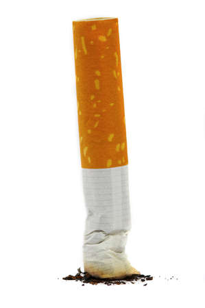 The extinguished stub of a cigarette. A bad habit...  photo