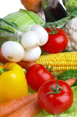 Photo of various vegetables. Healthy food Stock Photo - 1599391
