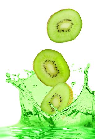 The kiwi falls in own juice photo