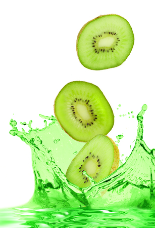 The kiwi falls in own juice Stock Photo - 1612811