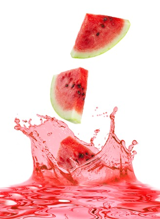 The watermelon falls in own juice  photo