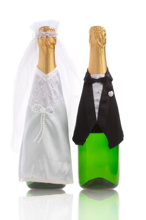 fiance: The groom and the bride. A wedding still-life  Stock Photo