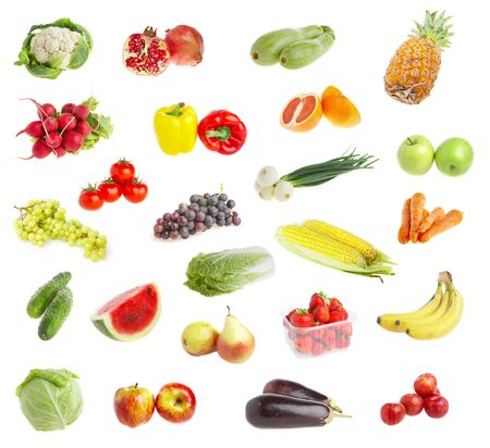 wholesome: Ripe freshs fruit andvegetables. Wholesome food.