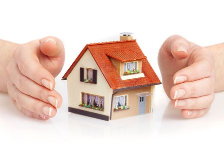 The house in human hands Stock Photo - 2407192