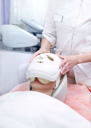 Improving procedure. A face pack. Stock Photo - 2613184