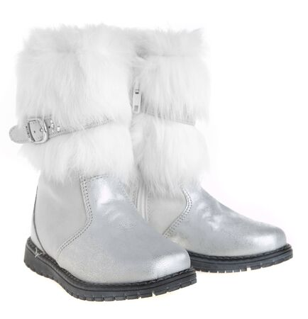 Winter female boots on a white background Stock Photo - 2880248