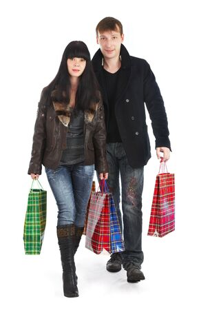 man and woman with purchases Stock Photo - 2880286