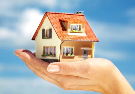 The house in human hands Stock Photo - 3361239