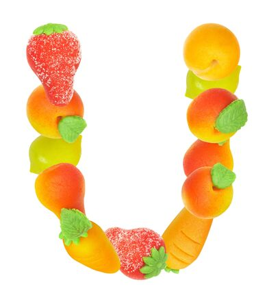 alphabet from fruit, the letter   U� Stock Photo - 3417862