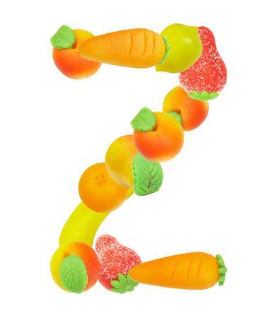 alphabet from fruit, the letter   Z� photo