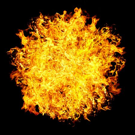 Fireball on a black background ... photo