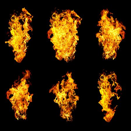 Fire photo on a black background ...