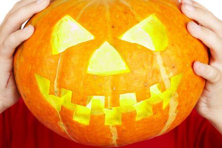 A scary old jack-o-lantern... photo