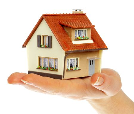 The house in human hands... Stock Photo - 3696310