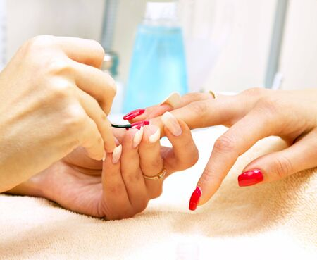 Manicure process... Female hands... Stock Photo - 3731346