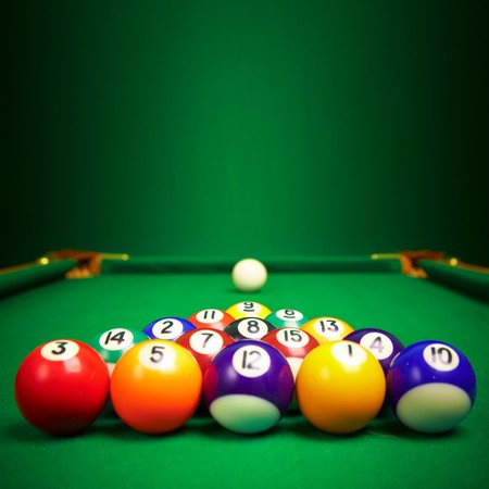 billiard balls  with copy space... photo