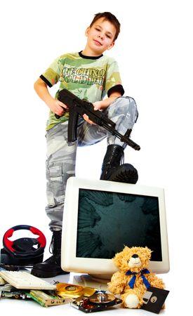 cruelty: Cruelty computer and video games Stock Photo