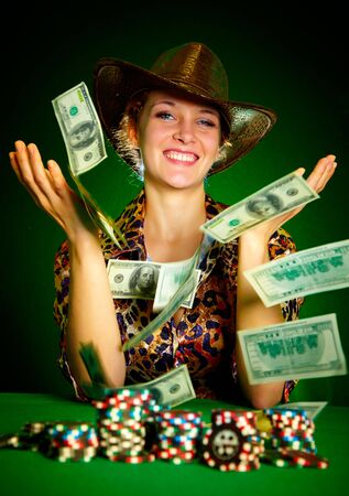 rejoices: girl rejoices to the big prize