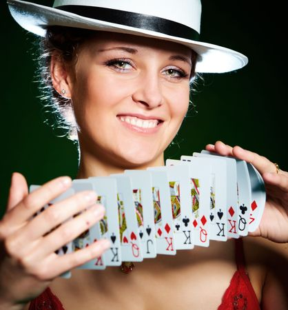 Photo of the girl with playing cards Stock Photo - 5533318