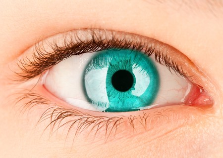 females only: Human eye close up ...
