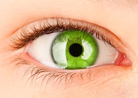 retina: Human eye close up ...